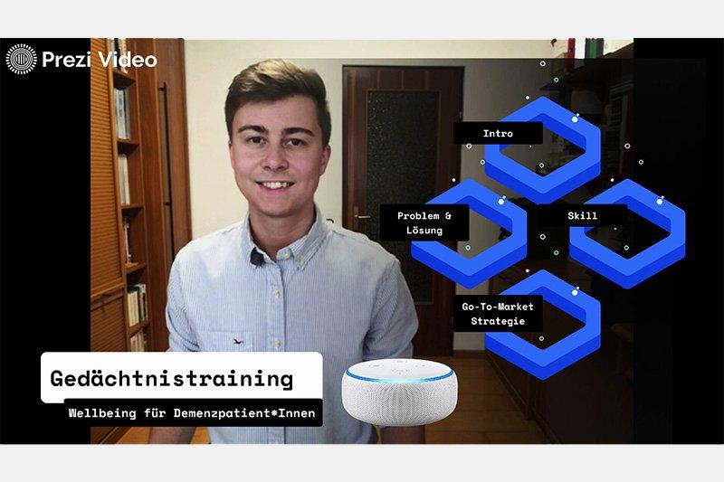 Der Siegerskill der Alexa for Wellbeing Online Challenge