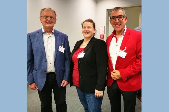 v.l.n.r.: Heinrich Holland, Johanna Erd und Ralf T. Kreutzer