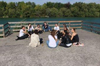 Die Gruppe am See