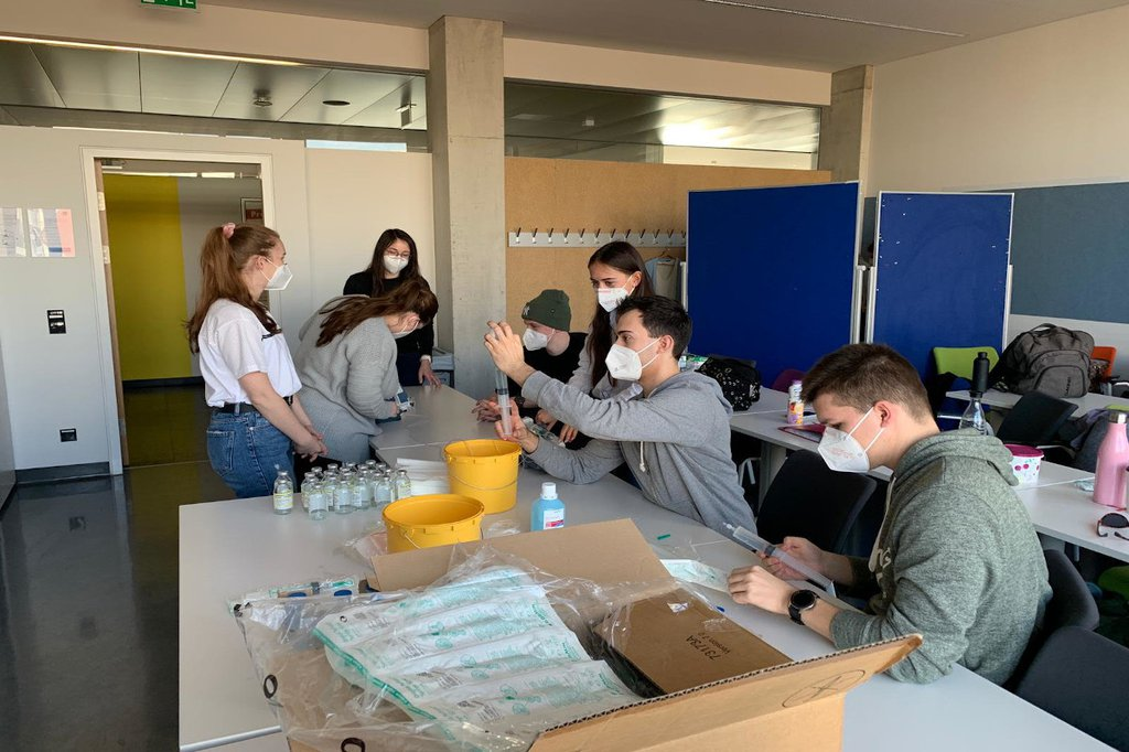 Hands-on Training im Lehrsaal