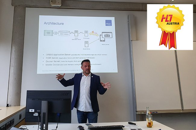 Christopher Csenar, Absolvent des Master Studiengangs Digital Healthcare, gewinnt den HL7 Austria Student Award 2020 in der Kategorie Masterarbeiten