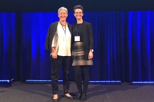 FH-Prof. Daniela Wewerka-Kreimel, MBA und FH-Prof. Alexandra Kolm, MSc bei der EFAD-Konferenz in Rotterdam