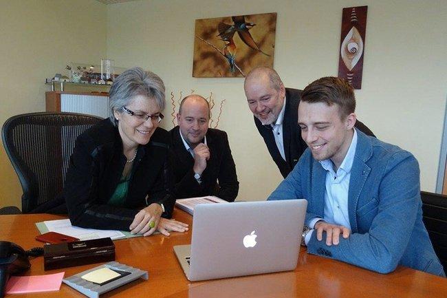 Snizek mit Bohuslav und Vertretern von accent Gründerservice