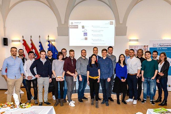 Gruppenfoto beim Smartup Forum