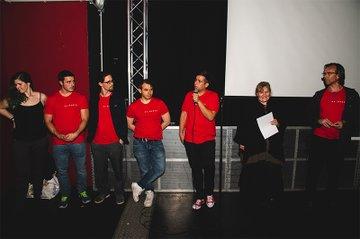 Begrüßung der BesucherInnen durch das Projektteam