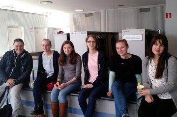 Studierende mit LV-Leiter Alois Huber bei der International University Week in Helsinki