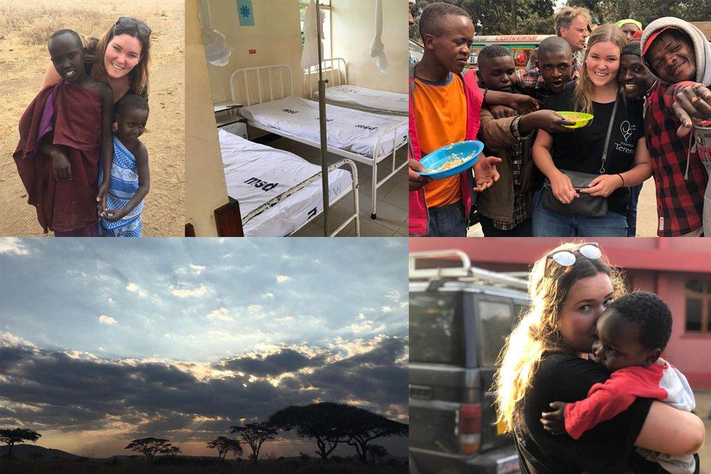 Fotocollage mit Bildern aus Tansania