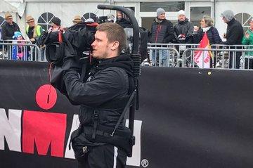 Student der FH St. Pölten filmt beim IRONMAN 70.3