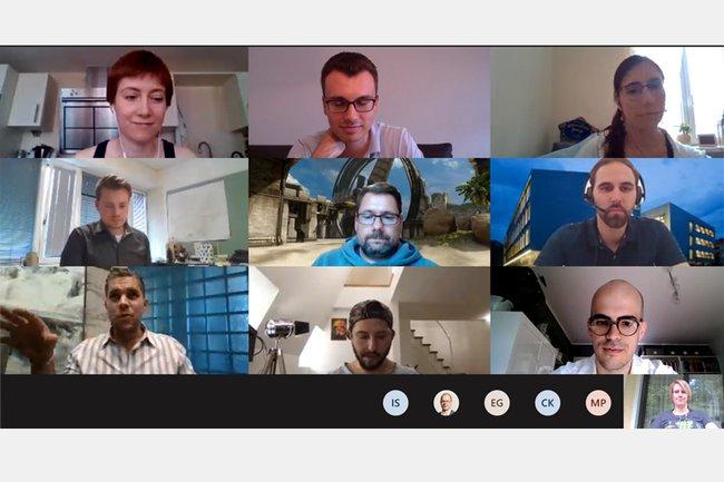 Alumnibeirat beim Online-Meeting