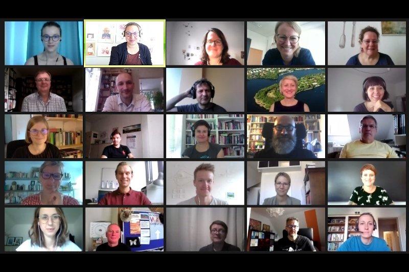 Teilnehmer*innen des Netzwerktreffens Jugendarbeit und Europa – European Youth Work 2020