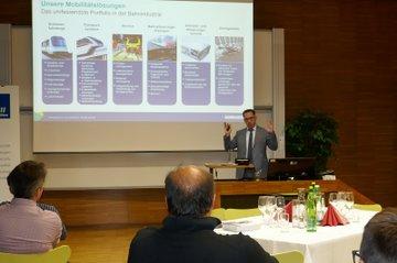 Bombardier Deutschland Chef Michael Fohrer beim Kaminabend