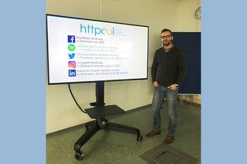 Michael Heugl bei seinem Gastvortrag im Bachelor Studiengang Media- und Kommunikationsberatung