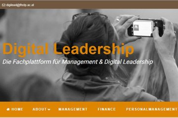 "Screenshot Blog ""Digital Leadership"""