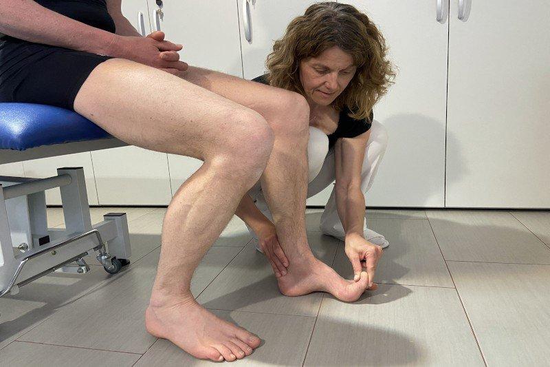 Dozentin Michaela Neubauer in der Praxis