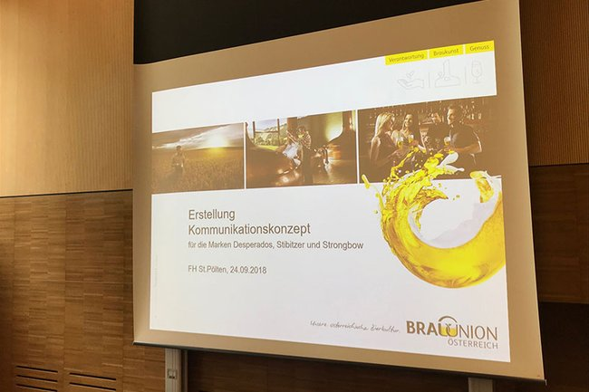 Die Brau Union ist Kooperationspartner im Praxislabor Unternehmenskommunikation (Bachelorstudium Media- und Kommunikationsberatung).