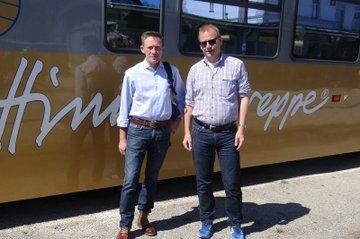 Otfried Knoll und Frank Lademann auf der Fachexkursion mit der Himmelstreppe