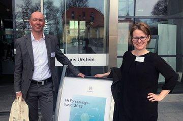 Bmstr. Dipl.-Ing. Franz Mooslechner von der STRABAG AG und Mag. (FH) Christina Engel-Unterberger beim FFH-Forum
