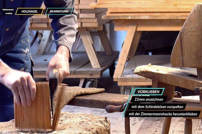 Screenshot aus einem der im Projekt Holzhandwerk Revisited entstandenen Filme