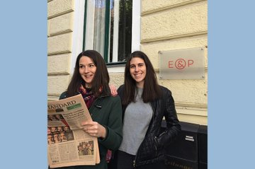 Claudia Arzberger (rechts) zusammen mit einer Kollegin.