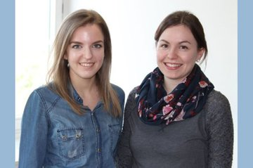 Katharina Amon (links am Bild) zusammen mit ihrer Kollegin Barbara Duy