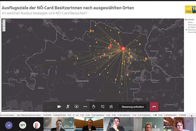 Screenshot der Online Lehrveranstaltung 'Datenanalysewerkzeuge'