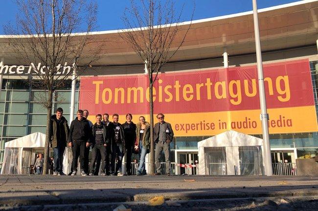 Studierende der FH St. Pölten auf der 30. Tonmeistertagung in Köln