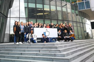 Die Studentinnen und Studenten (Master Media- und Kommunikationsberatung) zu Gast in Dublin, hier bei Facebook.