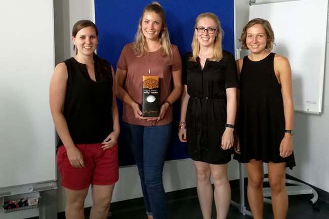 Das Gewinnerteam des Marketing-Planspiels aus dem Master Studiengang Media- und Kommunikationsberatung