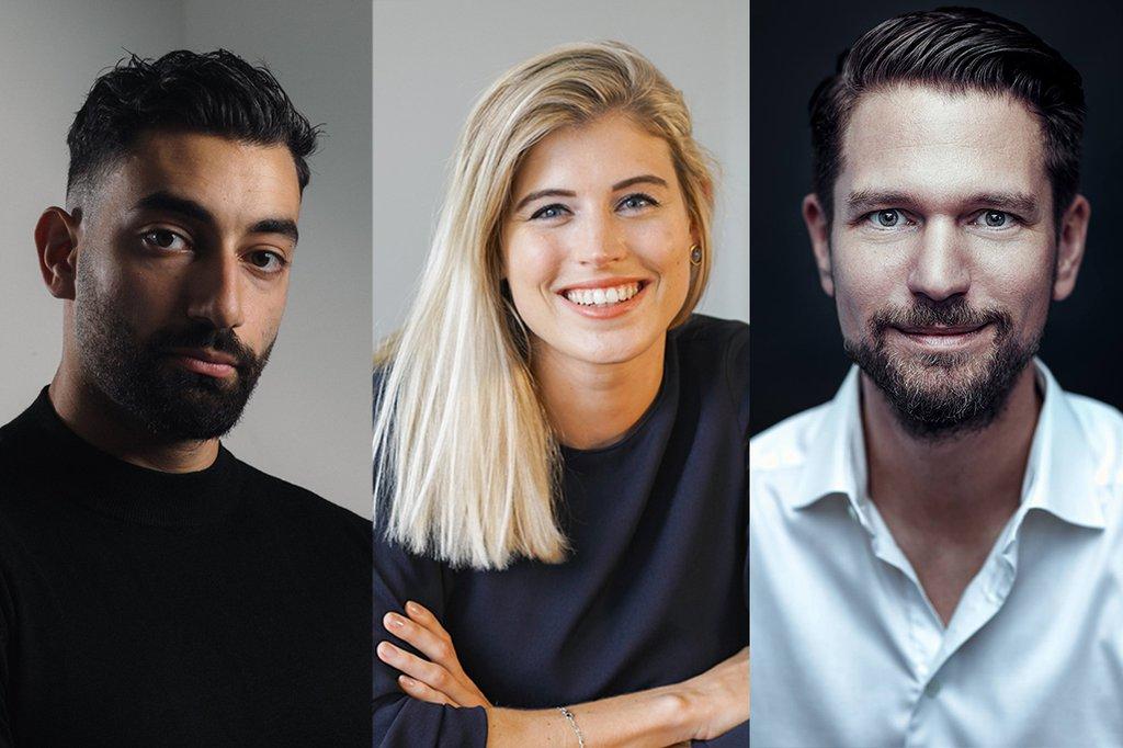Die 3 Speaker*innen (v.l.n.r.): Pedram Parsaian, Céline Flores Willers und Gerald Smech
