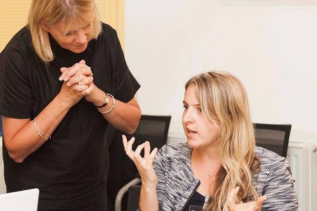 Sofie Hörtler mit Guest Scholar Dr. Karen Fowler-Watt, Bournemouth University (UK)