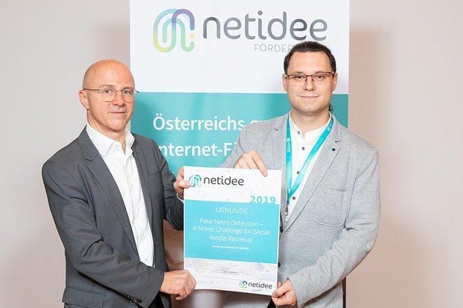 Armin Kirchknopf gewinnt netidee-Pitch