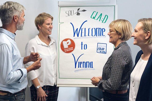 Martin Metz (Physiozentrum für Weiterbildung), Barbara Wondrasch (FH St. Pölten, Ewa Roos (University of Southern Denmark), Andrea Stodl (Physiozentrum für Weiterbildung)