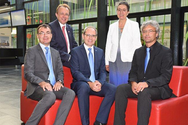 v.l.n.r.: Johann Haag, Matthias Stadler, Gernot Kohl, Gabriela Fernandes, Hannes Raffaseder