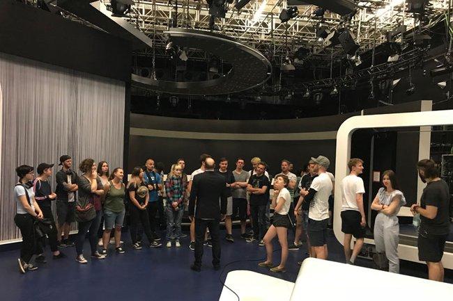 Medientechnik-Studierende erhielten Einblicke in die Tätigkeiten des ORF