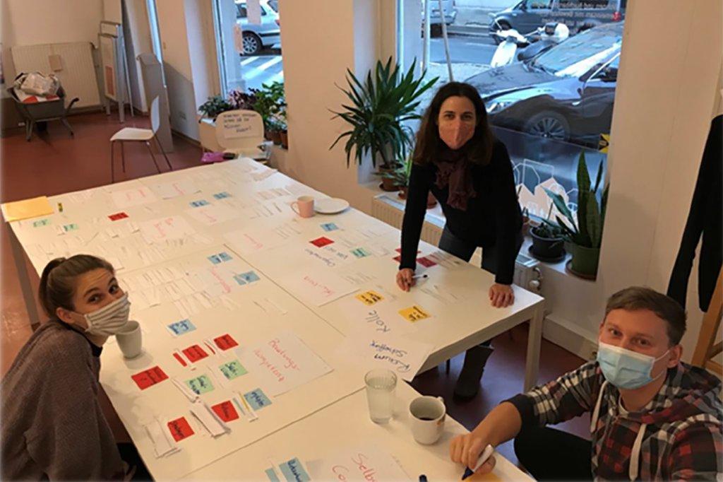 Studierende des Projekts Modelle der Peer-Arbeit