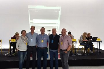v.l.n.r.: Kerstin Lampel, Rui Macedo, Alejandro San Juan, Bruno Albouy, Andreas Stübler
