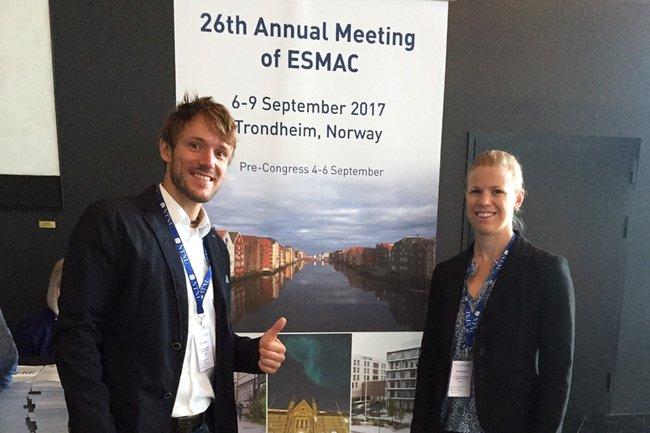 Brian Horsak und Anna Raberger auf der ESMAC-Konferenz
