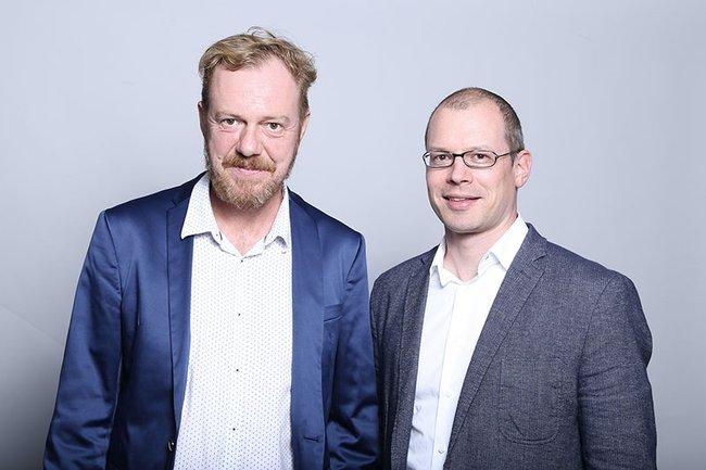 Chefredakteur Roland Steiner (FH St. Pölten) und Harald Wimmer (Studiengangsleiter Master Media- und Kommunikationsberatung, FH St. Pölten)