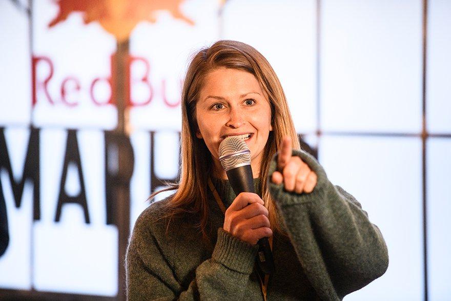 Eva Eder, Brand Managerin von Red Bull, zu Gast an der FH St. Pölten