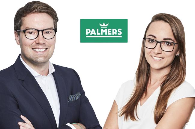 Ralph Hofmann (Marketing und Sales Director) und Frau Lisa Reisenberger (Head of Marketing) von Palmers Textil AG