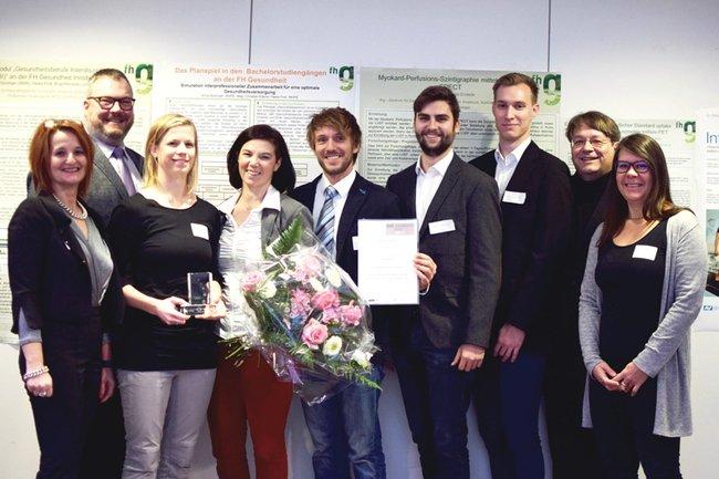 Das IntelliGait-Team der FH St. Pölten bei der Preisverleihung.