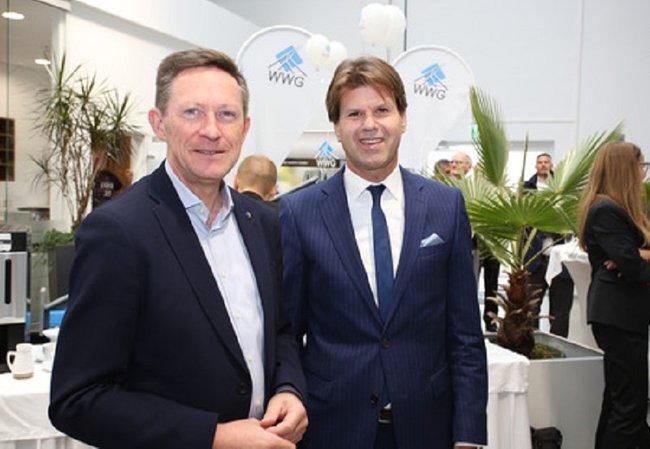 Departmentleiter Otfried Knoll und Weichenwerke Wörth GmbH Geschäftsführer Helmut Kreiter