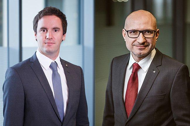 Johannes Grüner (li.) und Michael Huber (re.) von der Raiffeisenlandesbank OÖ