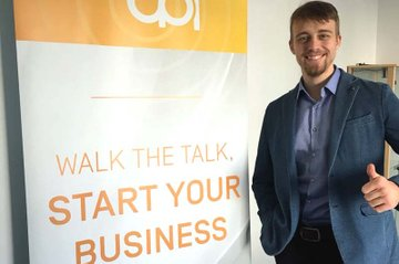 Lukas Snizek hat mit dem CPI-Projekt QuickSpeech gegründet