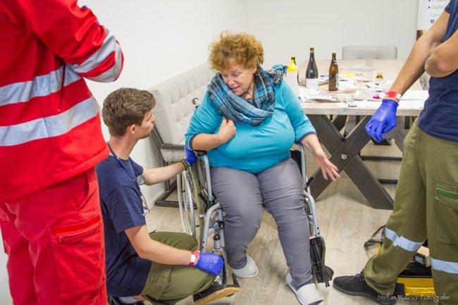 Einsatzszenario beim österreichischen Rettungsdienstbewerb Ride & Rescue