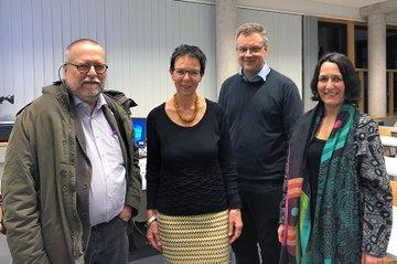 Tom Schmid, Birgit Sauer, Johannes Pflegerl und Christine Haselbacher