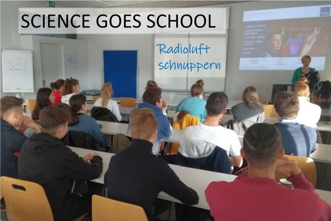 "Science goes School Workshop ""Radioluft schnuppern"""