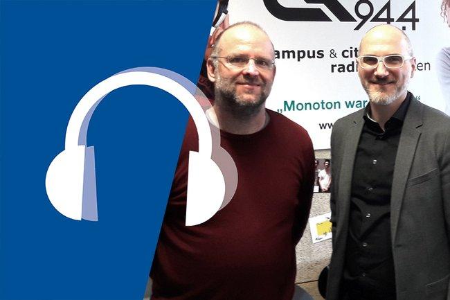 Markus Seidl und Wolfgang Aigner im Campus Talk