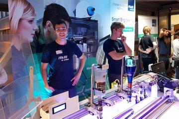 Der beliebte Cocktailroboter bei der European Researchers' Night 2018