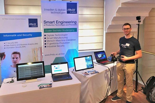 """Der Studiengang Smart Engineering präsentierte sich auf der Konferenz """"Digitalisierung IoT und Data Science"""""""